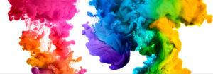 inky abstract colors