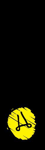 cartoon light bulb turned on